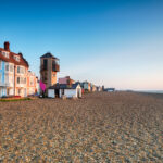The seafront and beach at Aldeburgh on the Suffolk coast